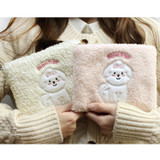 With Alice Bichon Frise slim square zip pouch