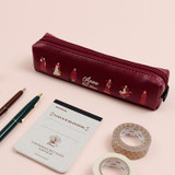 Burgundy - Bookfriends Anne of green gables zipper pencil case pouch