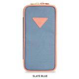 Slate Blue - Monopoly P pocket zipper pencil case pouch
