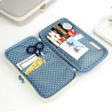 Usage example - Monopoly W double pockets zipper pencil case pouch