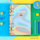 Hologram cherry - Second Mansion Neon retro A6 6 ring dateless weekly planner