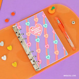 Magical love - Second Mansion Neon retro A6 6 ring dateless weekly planner