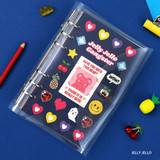Jelly Jello - Second Mansion Neon retro A6 6 ring dateless weekly planner