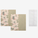 Set of 1 envelope and 2 letter papers - Dailylike Mind pattern letter with envelope set - Mimosa
