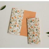 Usage example -  Dailylike Mind pattern letter with envelope set- Orange tree