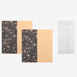 Set of 1 envelope and 2 letter papers  - Dailylike Mind pattern letter with envelope set - Mini Rose