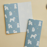 Usage example - Dailylike Mind pattern letter with envelope set - Bichon Frise