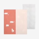 Dailylike Mind pattern letter with envelope set - Kitten