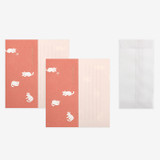 Set of 1 envelope and 2 letter papers - Dailylike Mind pattern letter with envelope set - Kitten