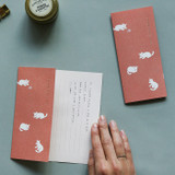 Usage example - Dailylike Mind pattern letter with envelope set - Kitten