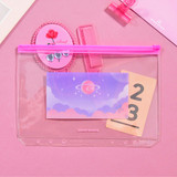 Star space violet - Second Mansion Retro mood 6-ring A5 zip lock pouch bag