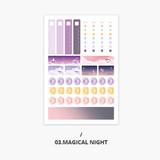 Magical night - Second Mansion Schedule check deco planner sticker set