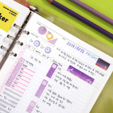 Usage example - Second Mansion Schedule check deco planner sticker set