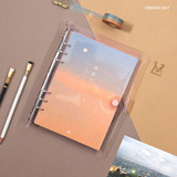 Orange day - Second Mansion Damwha 6-ring A5 size grid notebook