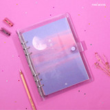 Pink moon - Second Mansion Damwha 6-ring A5 size grid notebook