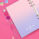 Pink-Purple - Second Mansion Gradation 6-ring A5 size planner blank notebook refill