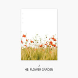 Flower garden - Second Mansion Moment 6-ring A5 size planner notebook refill