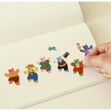 Usage example - Dailylike Jelly bear removable deco sticker set of 8 sheets