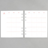 2NUL Cherry pick 6-ring planner monthly plan refill