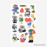 My koala & poodle - Dailylike My buddy removable paper sticker
