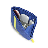Ocean Blue - Monopoly Air mesh large cable half zipper case pouch