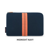Midnight Navy - Monopoly Air mesh large cable half zipper case pouch