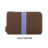 Milky Brown - Monopoly Air mesh large cable half zipper case pouch