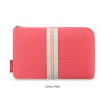 Coral Pink - Monopoly Air mesh large cable half zipper case pouch