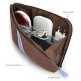 Composition - Monopoly Air mesh large cable half zipper case pouch