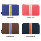 Color - Monopoly Air mesh large cable half zipper case pouch