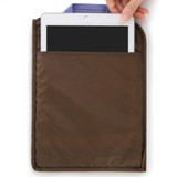 Open pocket - Monopoly Air mesh extra large iPad zipper tote pouch bag