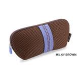 Milky Brown - Monopoly Air mesh glasses zipper pouch bag