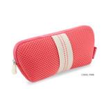 Coral pink - Monopoly Air mesh glasses zipper pouch bag