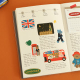 Usage example - Dailylike London removable paper deco sticker