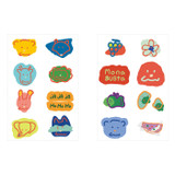 ROMANE MonagustA removable deco sticker 2 sheets set