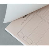 No sticky - PAPERIAN Lifepad A5 dateless desk planner 60 sheets