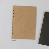 Kraft - PAPERIAN Paper board 6-ring A5 size blank notebook refill