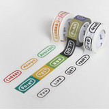 Gunmangzeung Wordle 15mmX10m single masking deco tape
