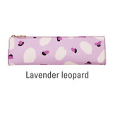 Lavender leopard - Antenna Shop Triangle synthetic leather zipper pencil case