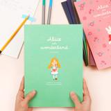 Bookfriends World literature lined school study notebook