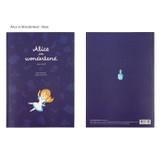 Alice in Wonderland Navy - Bookfriends World literature lined school study notebook