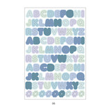 06 - PLEPLE Alphabet gradation paper deco sticker sheet