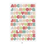 03 - PLEPLE Alphabet gradation paper deco sticker sheet
