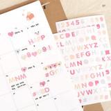 07 - PLEPLE Alphabet gradation paper deco sticker sheet