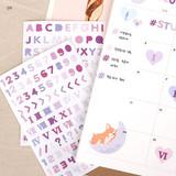 04 - PLEPLE Alphabet gradation paper deco sticker sheet