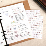 02 - PLEPLE Alphabet gradation paper deco sticker sheet