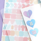 PLEPLE Number gradation paper deco sticker sheet