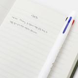 Camellia flower - Bookfriends Korean literature 0.7mm ballpoint multi pen