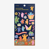 Package - Dailylike Jelly bear party hologram removable sticker