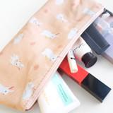 Usage example - O-CHECK Rabbit cotton zipper pencil case pouch